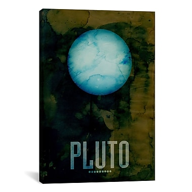 iCanvas 'The Planet Pluto' by Michael Tompsett Graphic Art on Canvas; 18'' H x 12'' W x 1.5'' D