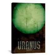 iCanvas 'The Planet Uranus' by Michael Tompsett Graphic Art on Canvas; 26'' H x 18'' W x 0.75'' D
