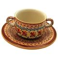 Polish Pottery Pattern DU70 8.75 oz. Consomm  Bowl