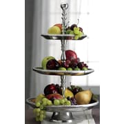 St. Croix Kindwer Three Tier Beaded Aluminum Tiered Stand