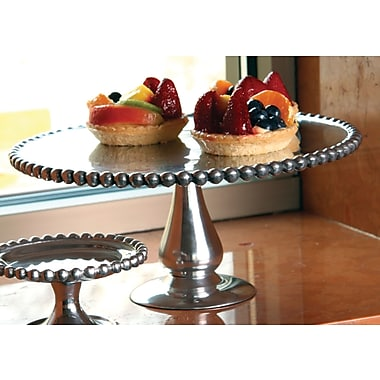 St. Croix Kindwer Beaded Aluminum Cake Stand