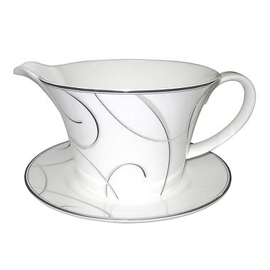 Nikko Ceramics Elegant Swirl Gravy Boat