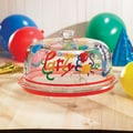 Crystal Clear Delish Birthday Party Pedestal Cake Plate with Dome Lid