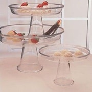 William Bounds Grainware Serving Necessities Pedestal Cake Stand (Set of 3)