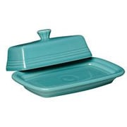 Fiesta Covered Butter Dish; Turquoise