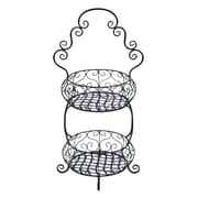 Woodland Imports 2 Tier Treat Basket Tiered Stand
