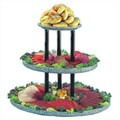 Buffet Enhancements Chefstone 3 Tier Display Riser Tiered Stand; Gray