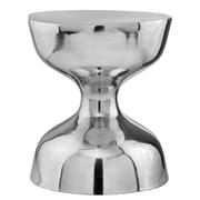 Modern Day Accents Aluminum Hour Glass Stool