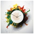 Metal Art Studio 22'' Splatter Wall Clock