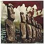 Metal Art Studio Easter Island Painting Print Plaque