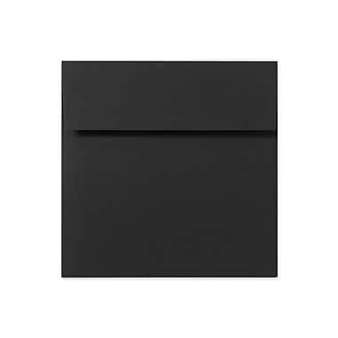 LUX Peel & Press 5 3/4 x 5 3/4 Square Envelopes 500/Box, Midnight Black (LUX-8520-B-500)