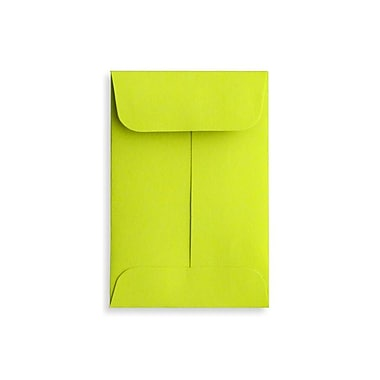 LUX #1 Coin Envelopes (2 1/4 x 3 1/2) 500/Box, Wasabi (LUX-1CO-L22-500)