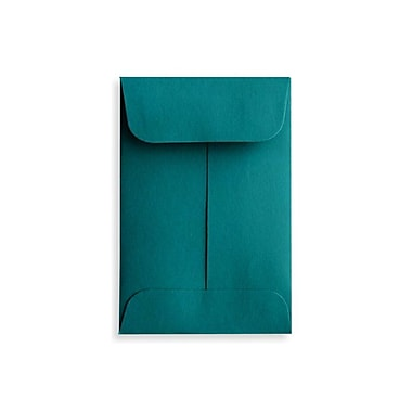 LUX #1 Coin Envelopes (2 1/4 x 3 1/2) 1000/Box, Teal (LUX-1CO-25-1000)