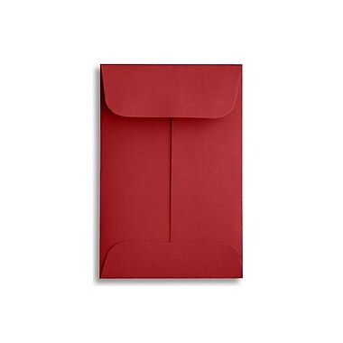LUX #1 Coin Envelopes (2 1/4 x 3 1/2) 250/Box, Ruby Red (LUX-1CO-18-250)