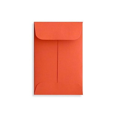 LUX #1 Coin Envelopes (2 1/4 x 3 1/2) 500/Box, Tangerine (LUX-1CO-112-50)