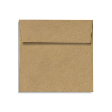 LUX Peel & Press 3 1/4 x 3 1/4 Square Envelopes 250/Box, Grocery Bag Brown (8503-GB-250)