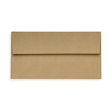 LUX Slimline Invitation Envelopes (3 7/8 x 8 7/8) 500/Box, Grocery Bag (72973-GB-500)