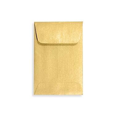 LUX #1 Coin Envelopes (2 1/4 x 3 1/2) 500/Box, Gold Metallic (1COGLD-500)