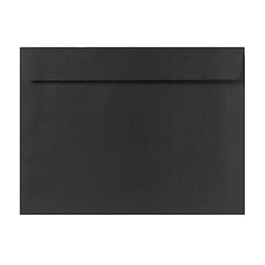 LUX 6 x 9 Booklet Envelopes 50/Box, Black Linen (4820-BLI-50)