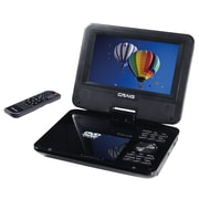 "Craig® 7"" TFT Swivel Screen Portable DVD/CD Player With Remote Control, Black"