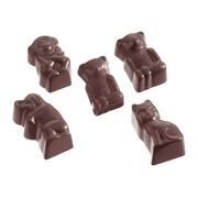 "Schneider Polycarbonate Compartment Animal Motif Chocolate Mold 3"" x 7"""
