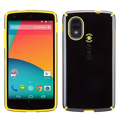Speck Candyshell LG Nexus 5 Cover, Black/Caution Yellow