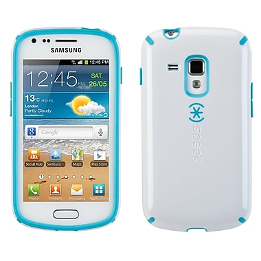 Speck Candyshell Samsung Galaxy Ace II Cover, White/peacock