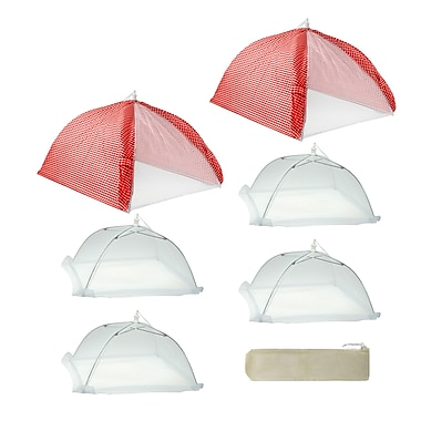 Mr. Bar-B-Q Cabana Style Food Tent Kit (Set of 7); Red