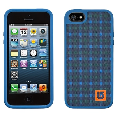 Speck Fabshell Burton iPhone 5 Case, Ballpoint Red Plaid/Harbor Blue