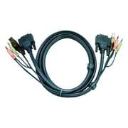 Aten® 6' USB DVI-D Dual Link KVM Cable, Black