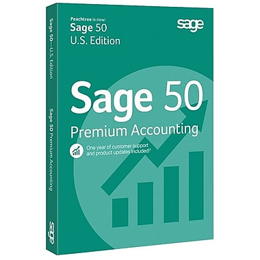 Sage 50 Premium Accounting 2015 Software DVD, 1 User