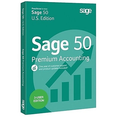 Sage 50 Premium Accounting 2015 Software DVD, 3 User