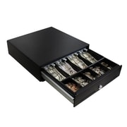 "Adesso® 13"" 3-Positions Lock Steel 4 Bill Case & 5 Coin Case & 2 Media Slots RJ12 Cash Drawer"