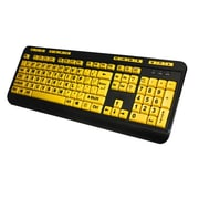 Adesso KB-132UY Wired Ergonomic Keyboard, Black/Yellow