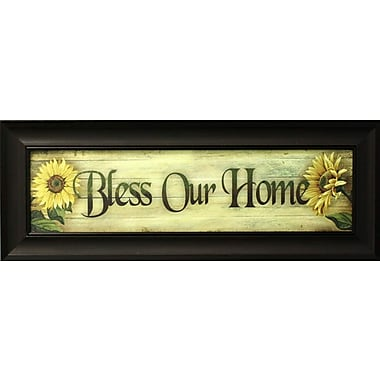Bless our Home, toile encadrée, 8 x 30 po