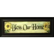 "Bless Our Home, Framed, 8"" x 30"""