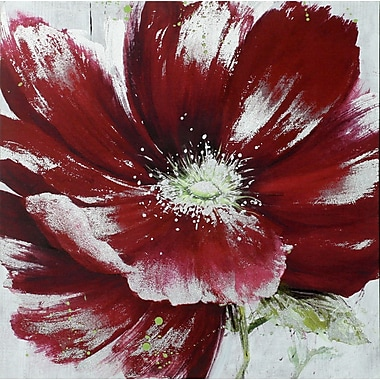 Red & Silver Poppy I, Canvas, 20