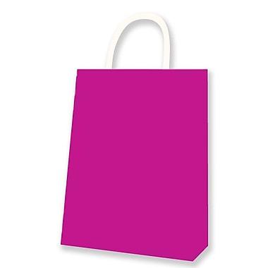 Medium Kraft Bag, Magenta, 12/Pack