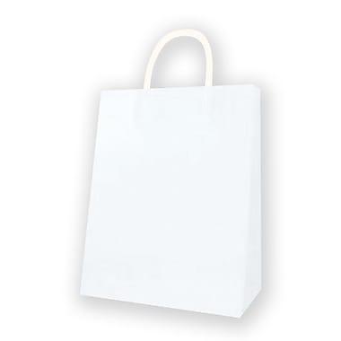 Jumbo Kraft Bag, White, 12/Pack
