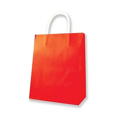 Medium Kraft Bag, Red, 12/Pack