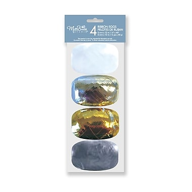 Ribbon, 4 Eggs Assortment, Metallic, 12/Pack