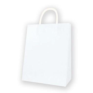 Medium Kraft Bag, White, 12/Pack