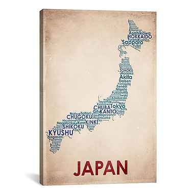 iCanvas American Flat Japan on Graphic Art on Wrapped Canvas; 41'' H x 27'' W x 1.5'' D