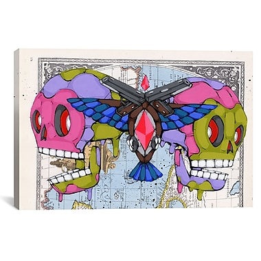 iCanvas Death Grips by Ric Stultz Graphic Art on Wrapped Canvas; 41'' H x 61'' W x 1.5'' D