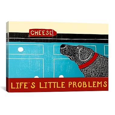 iCanvas Life's Little Problems Banner by Stephen Huneck Painting Print on Wrapped Canvas