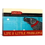 iCanvas Life's Little Problems Banner Canvas Print Wall Art; 26'' H x 26'' W x 0.75'' D