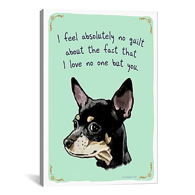 iCanvas Guilty Chihuahua by Christopher Rozzi Painting Print on Wrapped Canvas