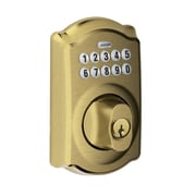 Schlage Camelot 6.5'' Keypad Deadbolt; Antique Brass