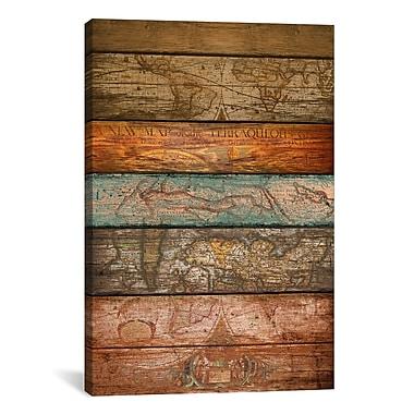 iCanvas Mapas by Maximilian San Graphic Art on Wrapped Canvas; 40'' H x 26'' W x 0.75'' D