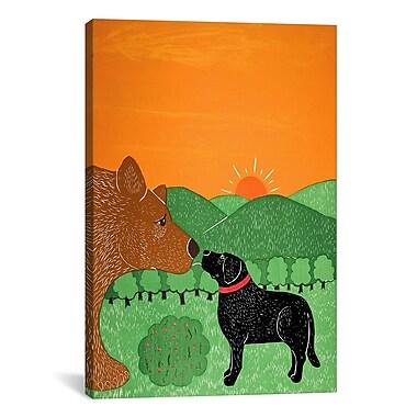iCanvas I Meet a Bear Black Canvas Print Wall Art; 61'' H x 41'' W x 1.5'' D